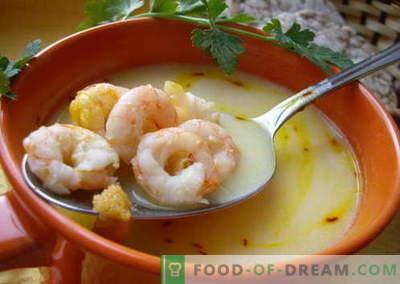 Krevečių sriuba - geriausi receptai. Kaip tinkamai ir skaniai virti sriuba su krevetėmis.
