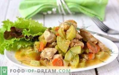 Vištiena su cukinija lėtoje viryklėje - skanus derinys. Geriausias vištienos receptas su cukinija lėtoje viryklėje: kepsnys, ryžiai ir grybai