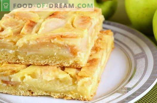 Obuolių pyragas - geriausi receptai. Kaip tinkamai ir skaniai virti obuolių pyragą.