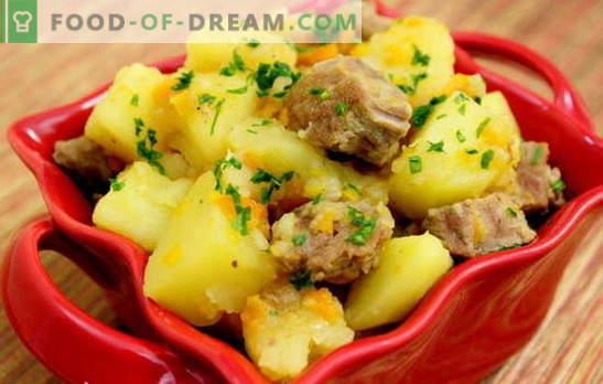 troškintos bulvės su kiauliena. Receptai kiaulienos ruošimui su bulvėmis romantiškoms vakarienėms ir širdingi pietūs