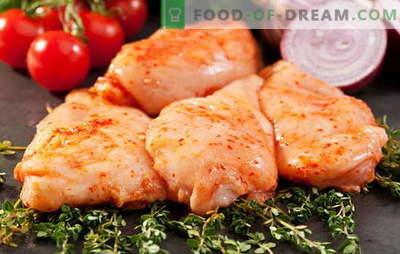 Kepta, troškinta, kepta marinuota vištiena visame šlovėje. Sukurti puikius patiekalus iš marinuotų vištienos