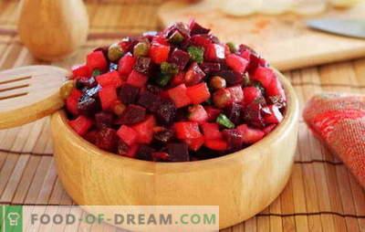 Daržovių salotos - valgykite vitaminų! Daržovių vinaigretų receptai: su pupelėmis, obuoliais, grybais, kopūstais