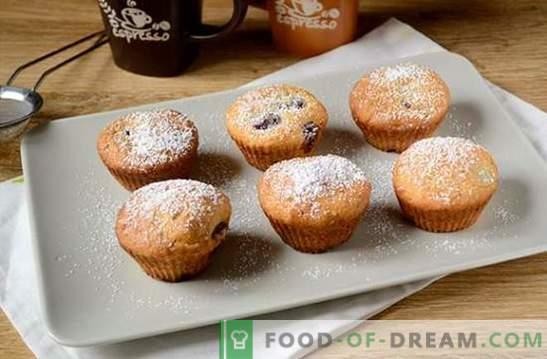 Sūrio pyragaičiai su vyšniomis: nedidelis desertas dideliam arbatos vakarėliui. Žingsnis po žingsnio Virimo vyšnių Muffin su vyšniomis (foto receptas)