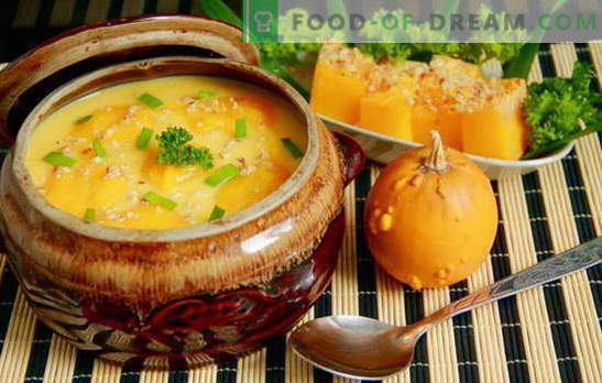 Nustebinkite visus su naminių moliūgų sriuba: greitai, skaniai! Europos receptai moliūgų sriuboms, greiti ir skanūs, sveiki ir maistingi