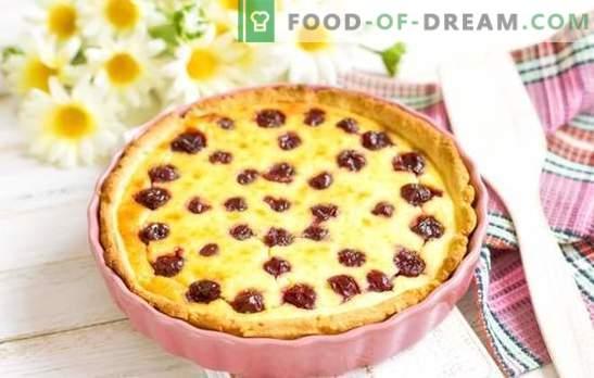Kepimas su vyšniomis - nuostabūs skoniai! Įvairių pyragaičių su vyšniomis receptai: sausainiai, pyragai, pyragai, strudelis, bandelės