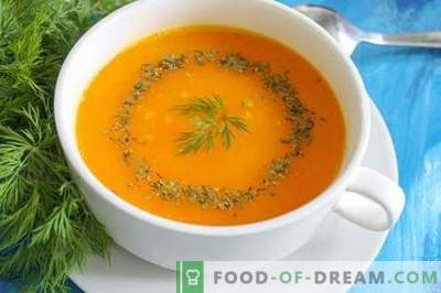Moliūgų tyrės sriuba - ryški nuotaika bet kuriuo metų laiku. Žingsnis po žingsnio receptas su nuotrauka: moliūgų sriuba, įvairios galimybės