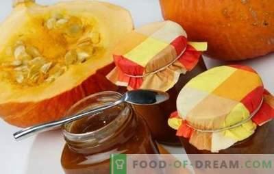 Moliūgų uogienė - ryškus naudingas delikatesas rezerve! Saulėgrąžų moliūgų uogienės receptai su citrusiniais, obuoliais, riešutais