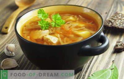 Receptai sriuboms iš šviežių kopūstų, kopūstų sriuba, borscht. Žuvis ir mėsa,