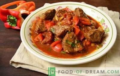 Kiaulienos gulašas mėsos padaže! Receptai skaniai kiaulienos guliašui keptuvėje su daržovėmis