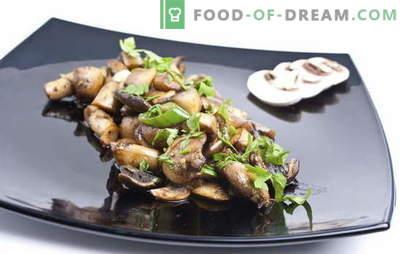 Keptų pievagrybių receptas. Kaip kepti česnakus: su svogūnais arba be jų - tinkamas paruošimas, perdirbimas ir virimas