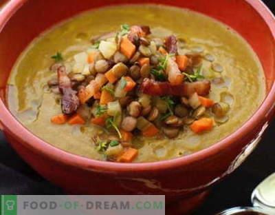 Lęšių sriuba - geriausi receptai. Kaip tinkamai ir skaniai virti lęšių sriuba.