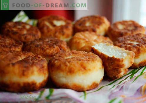 Lush cheesecakes - geriausi receptai. Kaip greitai ir skaniai virti sodrus sūrio pyragaičiai.