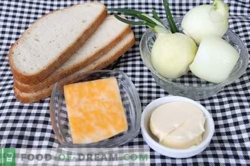 Prancūzų svogūnų sriuba rusų stiliaus