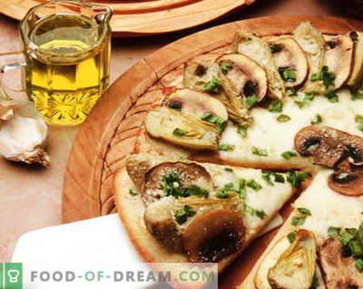 Pica su grybais - geriausi receptai. Kaip tinkamai ir skaniai virti grybų picą.