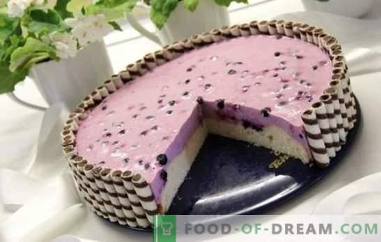 Jogurto pyragas - dietinis desertas! Geriausi jogurto pyragaičiai su sausainiais, uogomis ir želė