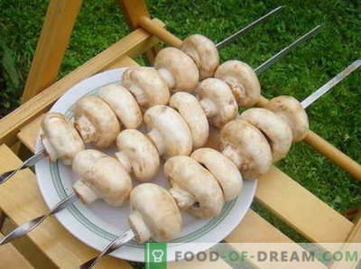 Champignons - geriausi receptai. Kaip gaminti grybus ir skanius.
