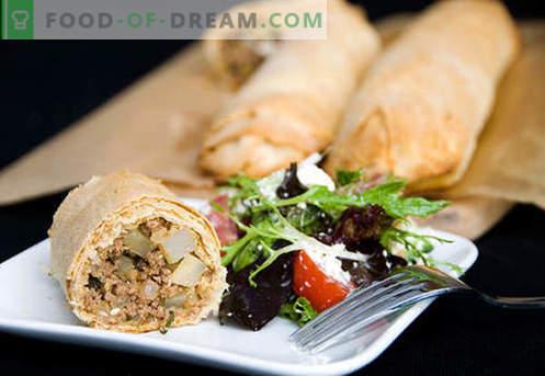 Mėsos šlakas - geriausi receptai. Kaip tinkamai ir skaniai ruošti strudą su mėsa.