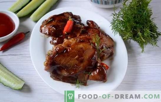 Kepta vištiena sojos padaže keptuvėje - per 20 minučių! Žingsnis po žingsnio autoriaus receptas dietiniam keptiems viščiukams sojos padaže