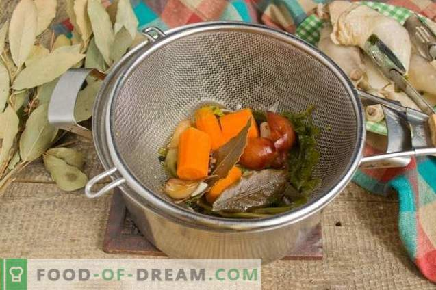Hähnchenschenkelbrühe - reich und aromatisch