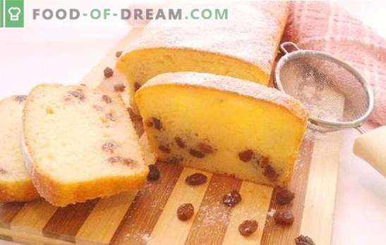 Sūrio pyragas su razinomis - visada erdvus ir švelnus! Geriausi receptai švenčių ir kasdienių varškės bandelėms su razinomis