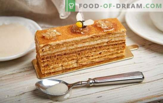 Kaip lengvai virti skanus medaus pyragas su kondensuotu pienu. Klasikiniai ir originalūs medaus pyragaičiai su kondensuotu pienu