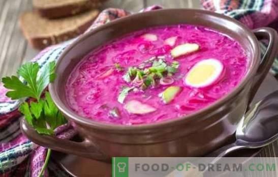 Burokėliai: žingsnis po žingsnio receptas ryškiausiajai sriubai. Kepimo klasikinis šaltas ir karštas burokėliai (žingsnis po žingsnio receptai)