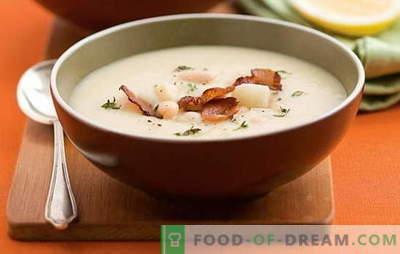 Супа од бел грав - пријатен познаник! Рецепти за различни супи од бел грав: домат, месо, сирење, пушеле, печурки