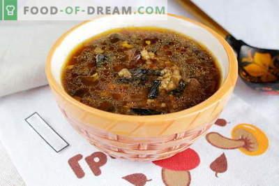 Džiovintos grybų sriuba - geriausi receptai. Kaip tinkamai ir skaniai virti džiovintų grybų sriuba.