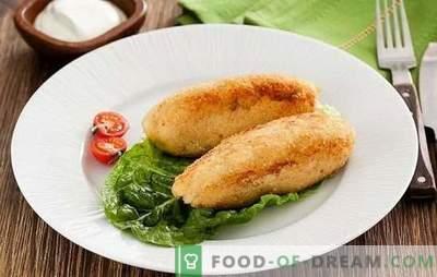 Zrazy fish - paprastas, sveikas, skanus patiekalas. Žuvies patiekalų receptai su grybais, kiaušiniais, sūriu, marinuotais agurkais