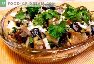 Salotos su marinuotais pievagrybiais - penki geriausi receptai. Kaip virti salotomis su marinuotais grybais teisingai ir skaniai.