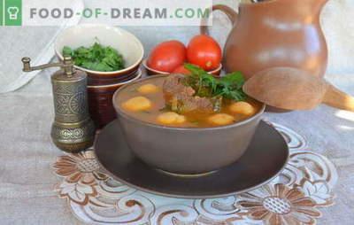 Armėnijos sriubos yra pirmųjų kursų šedevrai. Receptai Armėnijos sriubos su daržovėmis, lęšiais, pupelėmis, jogurtu, mėsos gabaliukais
