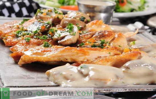 Mėsa prancūziškai su grybais orkaitėje - taip pat mylime jį! Prancūzijos mėsos receptai su grybais, pomidorais, bulvėmis