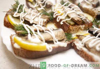 Atostogų sumuštiniai - receptas su nuotraukomis ir žingsnis po žingsnio aprašymas