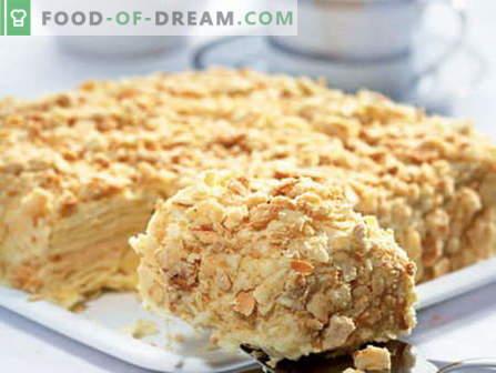 Geriausi receptai yra kondensuoto pieno pyragai. Kaip tinkamai ir skaniai virti pyragą su kondensuotu pienu.