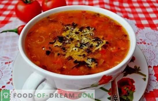 Pomidorų sriuba yra klasikinė. Pasaulio sriubos su pomidorais virimo receptai: skanus, sveikas, neįprastas