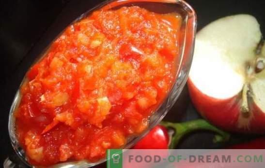 Adjika su obuoliais žiemai: saldžiarūgštis padažas visoms progoms. Geriausi žiemos obuolių receptai