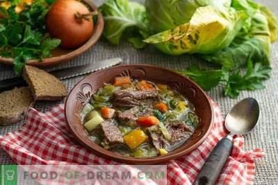 Paprasta kopūstų sriuba iš ankstyvųjų kopūstų