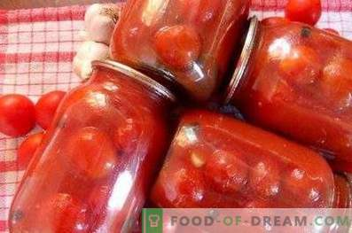Pomidorai pomidorų pasta žiemai
