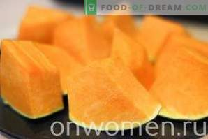 Pumpkin Baked in the Oven Chunks