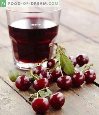 Cherry juice for the winter