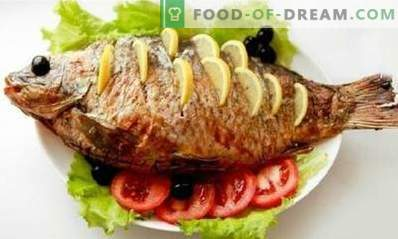 Carp baked in the oven