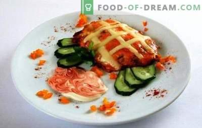 Kiauliena krosnyje su pomidorais ir sūriu yra vertas šventės puošimas. Receptai kiaulienos krosnyje su pomidorais ir sūriu: prancūzai neturi nieko bendro su juo!